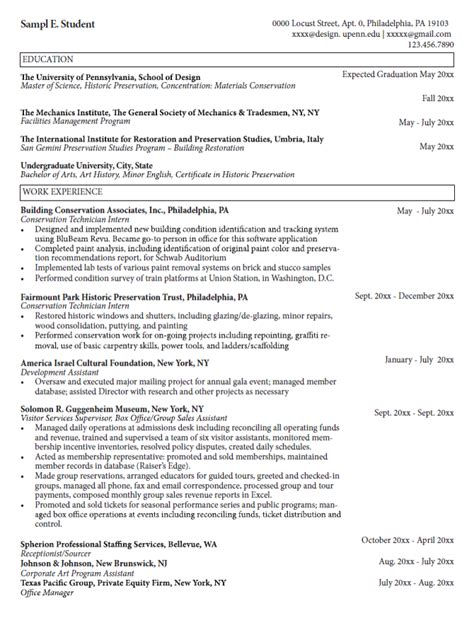 Cornell Career Services Resume Template by Cornell Career Services Cover Letter