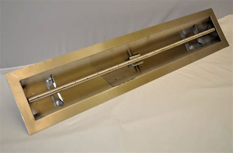 gas pit burner kit hearth products controls 48 inch stainless steel match lit