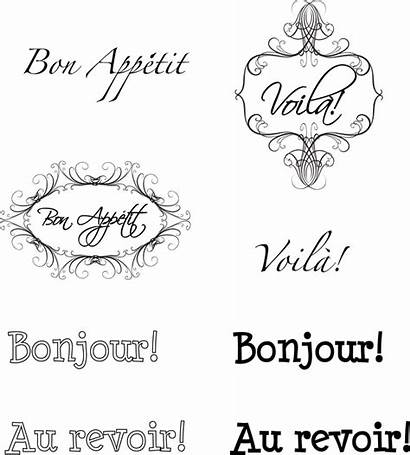 French Printable Words Card Scrapbook Paper Sentiments