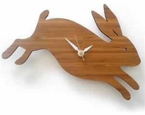 Decoylab Baby Bunny Modern Animal Clock - Modern - Kids