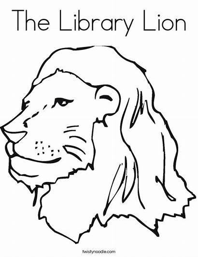 Lion Coloring Zoo Library Rule Pages Outline