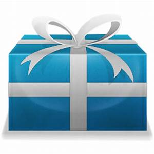 Christmas Present Gift Blue Icon | Icon2s | Download Free ...