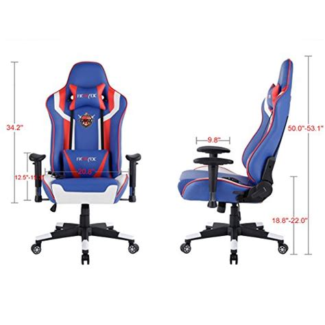 ficmax ergonomic large size computer racing chair leather