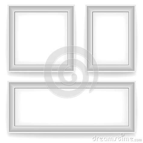 cornici bianche cornici bianche in bianco della parete fotografia stock