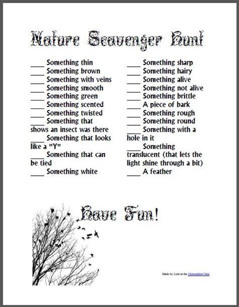 25 unique nature scavenger hunts ideas on