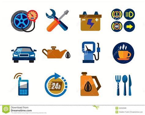 Auto Icons Vector Illustration