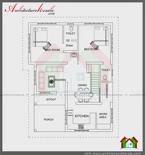 1500 sq ft home plans 1000 sqft single storied house plan and elevation