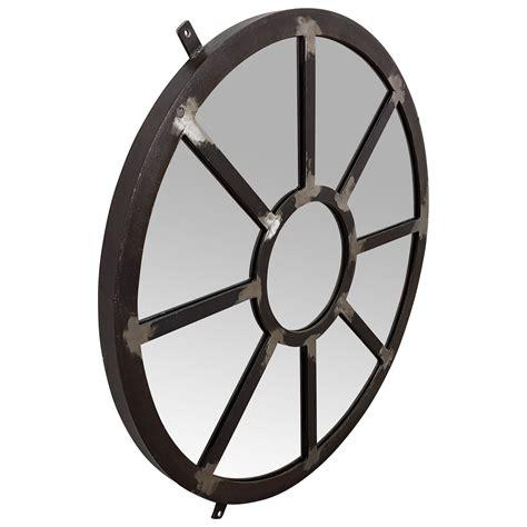 spiegel rund wandspiegel silber 216 75 cm metall deko industrie industrial design spiegel m 214 bel