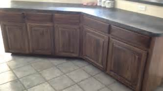 re stain shade glaze kitchen cabinets completed old