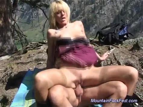 Mountain Fuck Fest Blonde Sex Alpha Porno