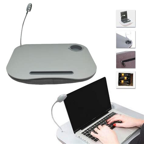 portable laptop cushion reading lap top table tray with