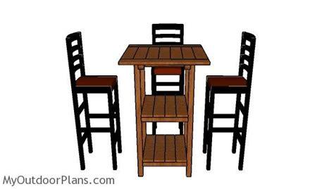 wooden bar table plans myoutdoorplans  woodworking