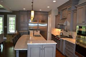 Gray Stained Cabinets With Black Glaze richmond 874