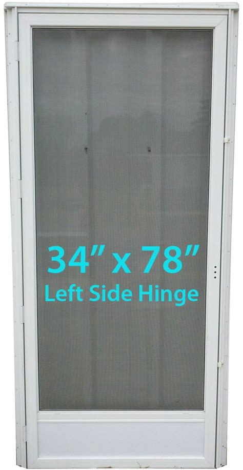 mobile home full view storm door  lh white  screen