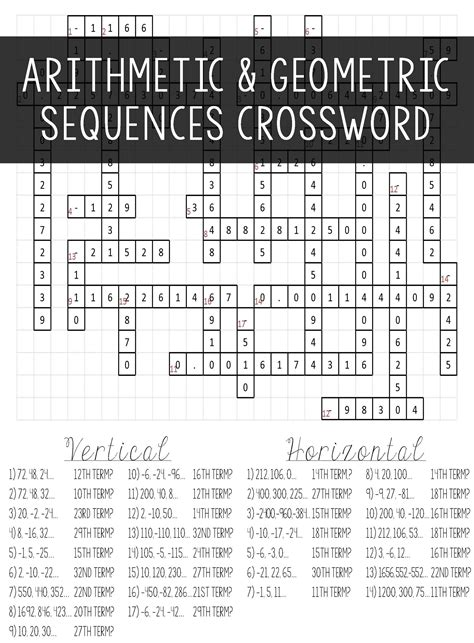 Arithmetic & Geometric Sequences  Algebra I  Pinterest  Arithmetic, Algebra And Fun Activities