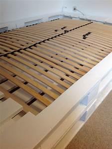 Palettenbett Mit Lattenrost In Wei Palettenbett Bett