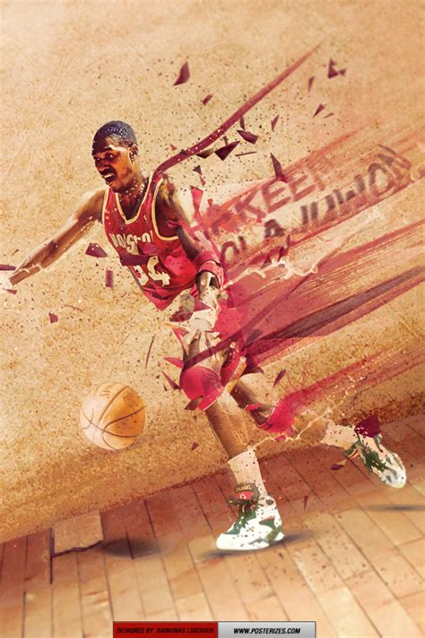 hakeem olajuwon wallpaper posterizes nba wallpapers