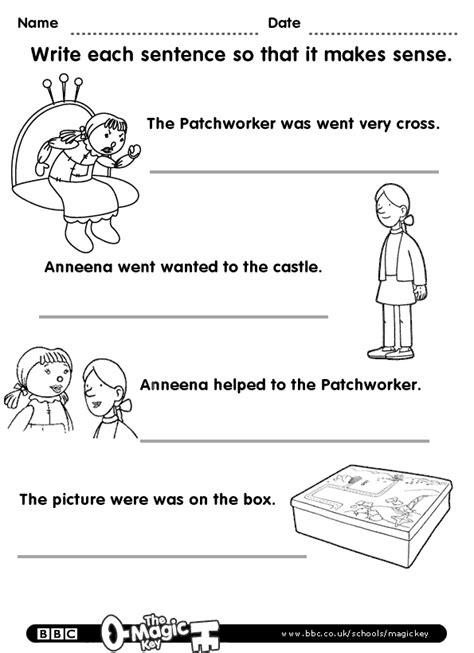 can you make sense of a sentence english worksheets
