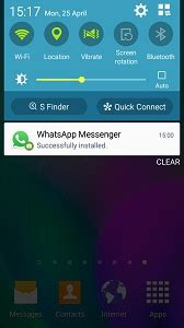 how do i get the whatsapp messenger app on my samsung