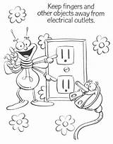 Electricity Coloring Save Pages Energy Printable Saving Puzzle Getdrawings Getcolorings Esl sketch template