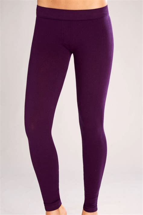 Classic Shapewear Twill Cotton Plum Leggings ATG186-PLM   Womenu0026#39;s
