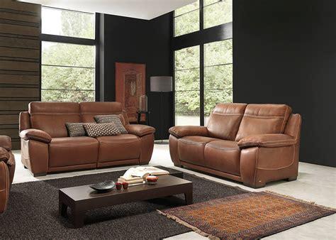 salon canapé cuir salon complet brescia en cuir canapé 3 places avec 2