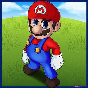 How to Draw Mario, Step by Step, Video Game Characters ...