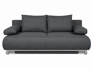 banquette clic clac en tissu aiko coloris gris fonce With tapis de gym avec clic clac canapé convertible