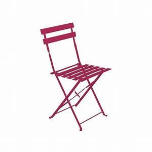 Chaise De Jardin Metal : chaise de jardin m tal pliante camargue framboise achat ~ Dailycaller-alerts.com Idées de Décoration