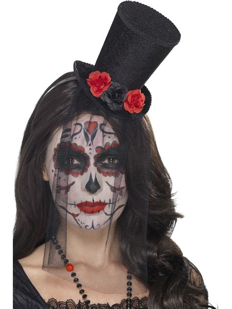 adult day of the dead mini top hat 44652 fancy dress ball