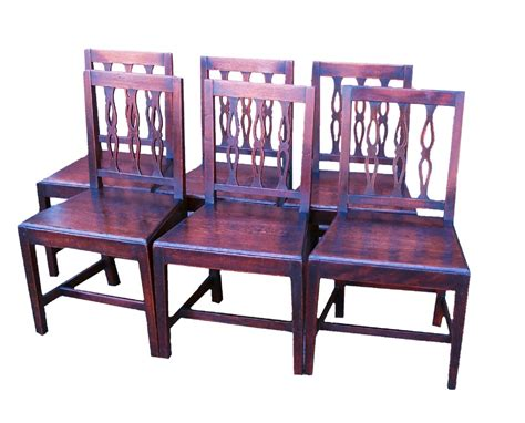 antique set of six oak dining chairs 353623
