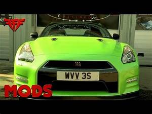 Nissan GTR s wrapped Lamborghini green Sweet Wrap
