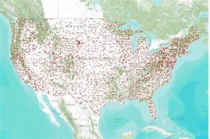 Breeding Bird Survey Route Locations For Lower 48 States