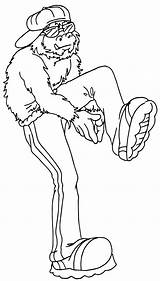 Coloring Hop Hip Pages Bigfoot Clipart Colouring Dance Template Boys Library Print Dancers Clip Popular Letters sketch template
