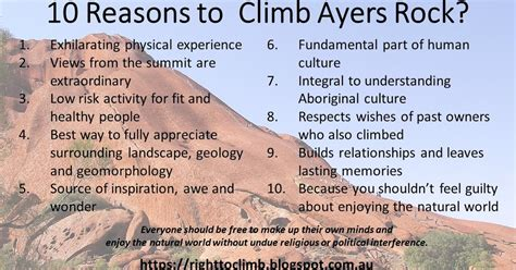 Reasons Why You Should Climb Ayers Rock