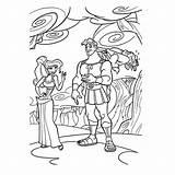 Hercules Coloring sketch template