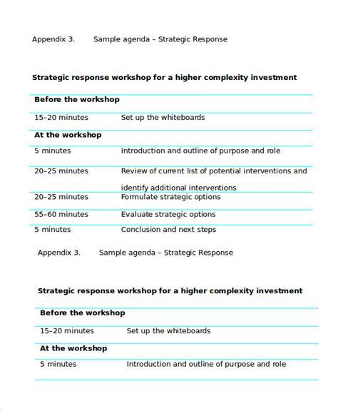 Training Seminar Agenda Template by Workshop Agenda Template 6 Free Word Pdf Documents