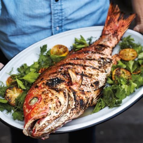 fish grilled whole recipe recipes caledonia grill food dish dishes grilling foods catholic seafood sussman williams sonoma skin cuisine meat