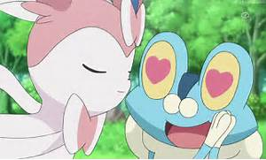 Sylveon kissing Froaki...