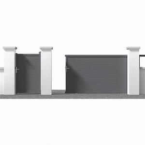 Portail Sur Mesure Castorama : portail en aluminium coulissant new auteuil gris portail castorama ~ Carolinahurricanesstore.com Idées de Décoration