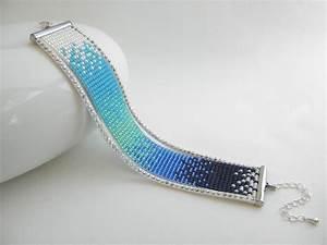 bracelet fait main perles de rocaille miyuki degrade de With bijoux fait main