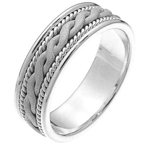 230661pp Platinum Braided Wedding Band