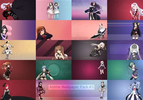 Anime Wallpaper Pack Hd - anime wallpaper pack 3 by scope10 on deviantart