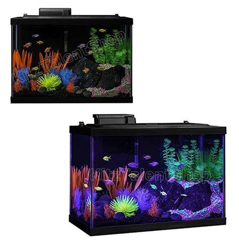 20 gallon fish tank aquarium colorful neon display freshwater home office decor ebay