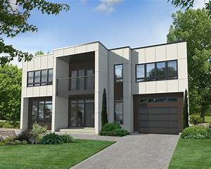 Two-story Modern House Plan - 80829pm
