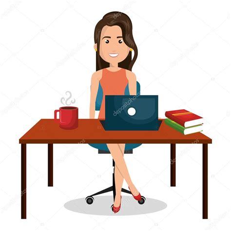 bureau dessin dessin femme d affaires bureau travail bureau graphique