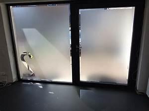 vitres sablees sablage fenetres pose de film sable With porte d entrée pvc avec film pour vitre salle de bain