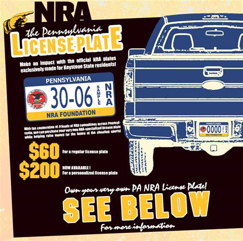 pa personalized license plate form friends of nra national rifle association