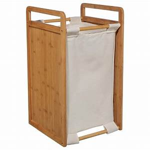 Panier à Linge Bambou : panier linge bambou 61cm naturel ~ Dailycaller-alerts.com Idées de Décoration