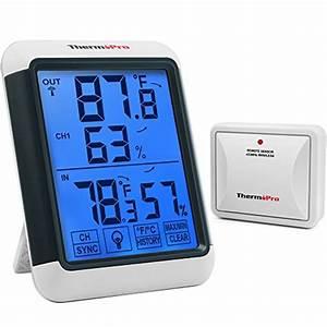 Thermopro Tp65 Digital Wireless Hygrometer Indoor Outdoor